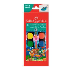 12-aquarelas-em-pastilha-escolar-com-pincel-faber-castell-haikai-presentes-papelaria