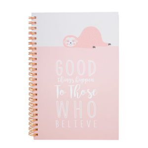 Caderno-Espiral-Bicho-Preguica--Good-Things-Happen-To-Those-Who-Believe-