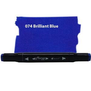 Caneta-Marcador-Ponta-Dupla-Marker-Dual-Bismark-75-Brilliant-Blue