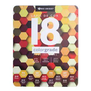 Caixa-de-Lapis-de-Cor-Profissional-Color-Grade-18-Amarelo---Bee-Unique