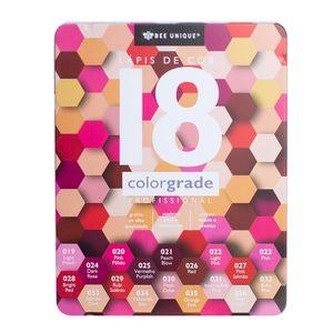 Caixa-de-Lapis-de-Cor-Profissional-Color-Grade-18-Rosa---Bee-Unique