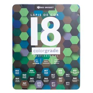 Caixa-de-Lapis-de-Cor-Profissional-Color-Grade-18-Verde---Bee-Unique